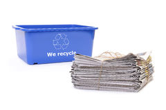Wastepaper disposal Stock Photo