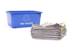 Wastepaper disposal stock photo