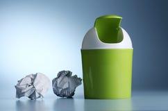 Wastepaper Korb Stockfotografie