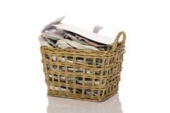 Wastepaper kosz Zdjęcia Royalty Free