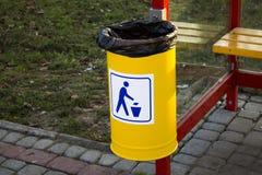 Wastepaper kosz Zdjęcie Stock