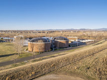 Waste water treatment plant Stock Images