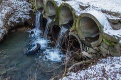 Wastewater drymb zamknięty up fotografia royalty free