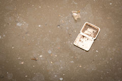 Wastewater. Foam box on Wastewater ,environment problem Royalty Free Stock Images