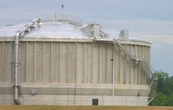 Wastewater Processing Tank. Wastewater Processor Royalty Free Stock Images