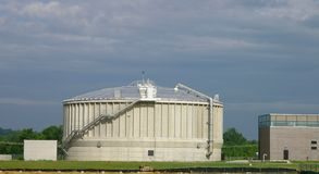Wastewater treatment facility. Wastewater Treatment Plant Stock Image