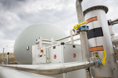 Wastewater treatment facility Gas tank Stock Photography