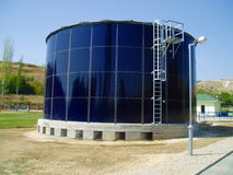 Wastewater Treatment Plant Royalty Free Stock Images
