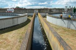 Wastewater treatment plant Stock Photography