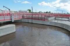 Wastewater treatment plant Royalty Free Stock Photography
