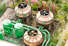 Wastewater treatment. Royalty Free Stock Photos