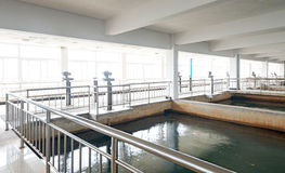 Wastewater treatment plant. Royalty Free Stock Photography