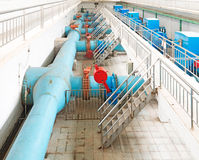 Wastewater treatment plant. Royalty Free Stock Photo