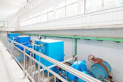 Wastewater treatment plant. Royalty Free Stock Photos