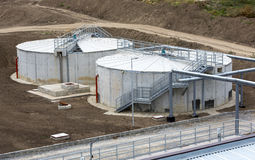Wastewater treatment plant Stock Images