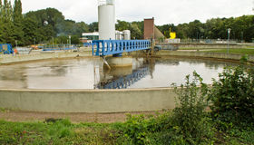 Wastewater treatment plant Royalty Free Stock Image