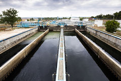 Wastewater treatment plant Water tank Stock Image