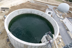 Wastewater treatment plant Water tank Stock Photos