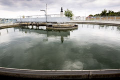 Wastewater treatment plant Water tank Stock Photography