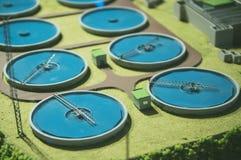 Wastewater zakład przeróbki obraz royalty free