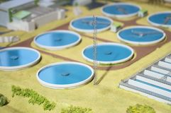 Wastewater zakład przeróbki zdjęcie royalty free