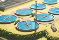 Wastewater zakład przeróbki fotografia royalty free