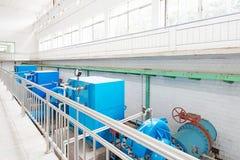 Wastewater zakład przeróbki zdjęcia royalty free