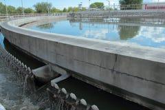 Wastewater zakład przeróbki obrazy stock