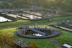 Wastewater zakład przeróbki w parku Projektował teren zdjęcie royalty free