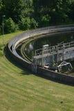 Wastewater zakład przeróbki w parku Projektował teren obraz royalty free