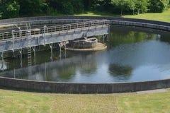 Wastewater zakład przeróbki w parku Projektował teren obrazy royalty free