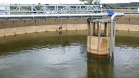 Wastewater zakładu przeróbki zbiornik wodny zdjęcie wideo