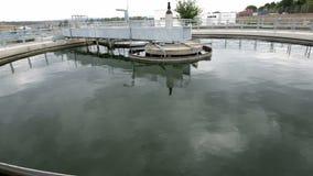 Wastewater zakładu przeróbki zbiornik wodny zbiory