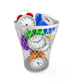 Wasting Time Concept. Isolated on white background. 3D render Stock Photography