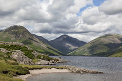 Wastwater and Great Gable Royalty Free Stock Photos