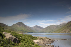 Wastwater lake in the lake district, cumbria, england. Beautiful view of wastwater lake in the lake district, cumbria, england on sunny day Stock Photo