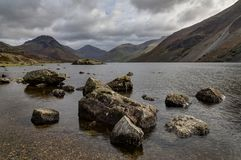 Wastwater with foreground stones Stock Image