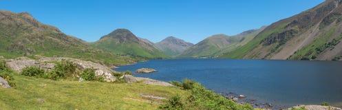 Wastwater lub Wast woda w Jeziornym Gromadzkim parku narodowym w UK Fotografia Stock