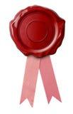 Wasverbinding met roze geïsoleerd lint royalty-vrije stock afbeelding