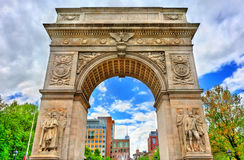 Waszyngtoński kwadrata łuk, marmurowy triumfalny łuk w Manhattan, Miasto Nowy Jork fotografia royalty free