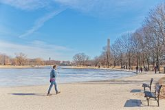 Waszyngtoński national mall zimy spacer Stany Zjednoczone Ameryka zdjęcie stock