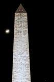 Waszyngtoński zabytek przy nocą Zdjęcie Stock