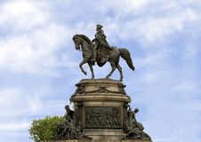 Waszyngtoński zabytek Rudolf Siemering, Benjamin Franklin Parkway przy Eakins owalem, Filadelfia, Pennsylwania obraz stock