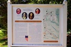 Waszyngtońska ` s Mount Vernon miejsca mapa Zdjęcia Stock