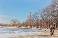 Waszyngto?ski national mall zimy spacer Stany Zjednoczone Ameryka obrazy stock