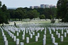 Waszyngton, DC - Czerwiec 01, 2018: Arlington Krajowy cmentarz Obraz Royalty Free