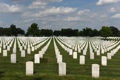 Waszyngton, DC - Czerwiec 01, 2018: Arlington Krajowy cmentarz Zdjęcie Royalty Free