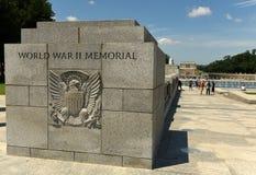 Waszyngton, DC - Czerwiec 01, 2018: Druga Wojna Światowa pomnik w domyciu Zdjęcia Stock