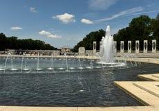 Waszyngton, DC - Czerwiec 01, 2018: Druga Wojna Światowa pomnik w domyciu Obrazy Royalty Free