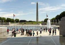 Waszyngton, DC - Czerwiec 01, 2018: Goście drugiej wojny światowa memori Zdjęcia Stock
